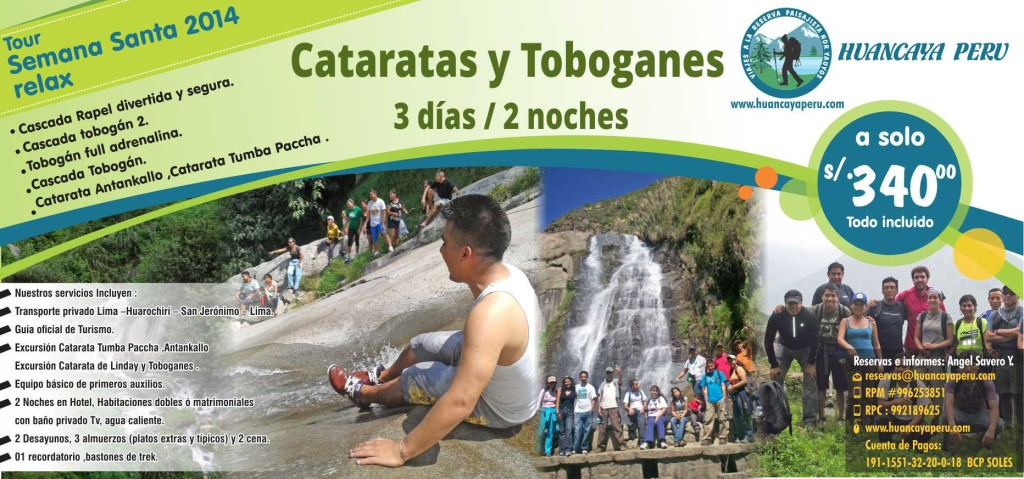 flyer tour cataratas   t Toboganes